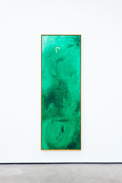 r, 2018, Acrylic on canvas, aluminium frame, 159.6 x 55.6 x 4.5 cm