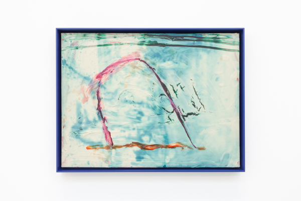 C, 2018, Acrylic on canvas, aluminium frame, 30.5 x 40.5 x 2.5 cm