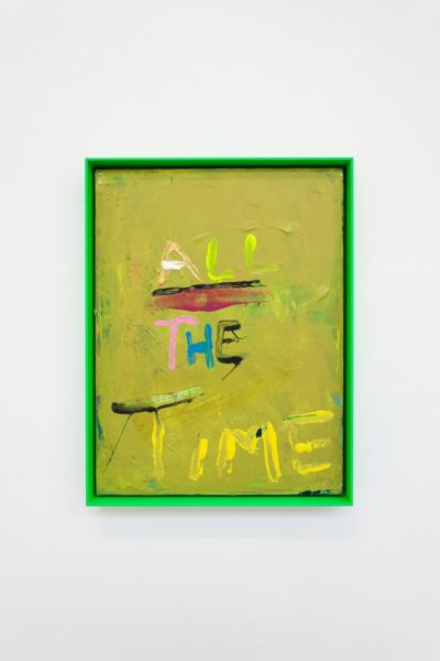 All the Time, 2018, Acrylic on canvas, aluminium frame, 42 x 32 x 3.8 cm