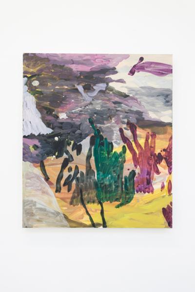 In the Italian Garden Part 1, 2018, Oil on canvas, 70 x 60 x 4.3 cm
