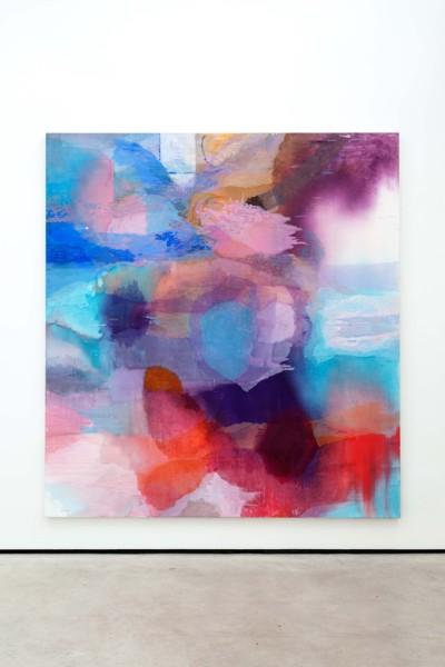 Broken Waveform, 2019, Oil on canvas, 250 x 230 x 3.7 cm