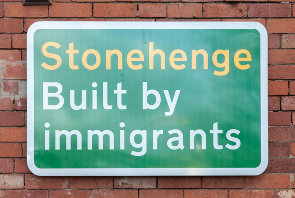 Built by Immigrants, 2019, 79.5 x 123.5 x 1.7 cm