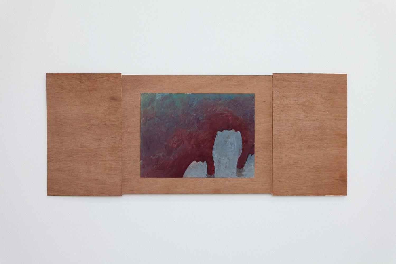 Untitled, 2019, Acrylic, paper, wood, glue, 30.5 x 75 x 1.5 cm