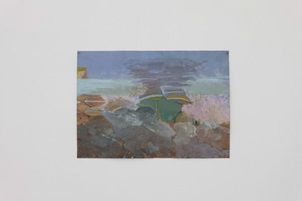 Rocks, 2019, Acrylic, paper, 29.7 x 41.5 cm