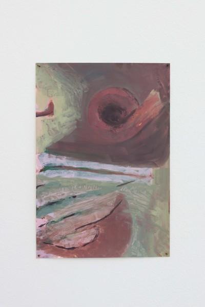 Roll, 2019, Acrylic, paper, 29.7 x 20.4 cm