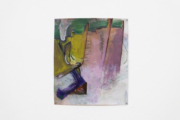 Dam, 2019, Acrylic, paper, 30 x 25.6 cm