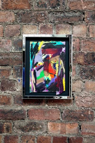La Bête humaine, 2019, Oil pastel on paper, 44.8 x 34.7 x 3.4 cm