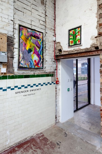 Installation view 'The Pastels, The Modern Institute, Aird's Lane Bricks Space, Glasgow, 2019