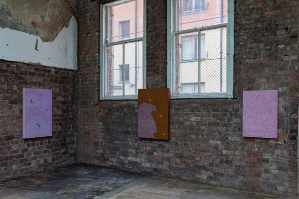 Installation view 'Spit Sweat Shhh', The Modern Institute, Aird's Lane Bricks Space, Glasgow, 2019