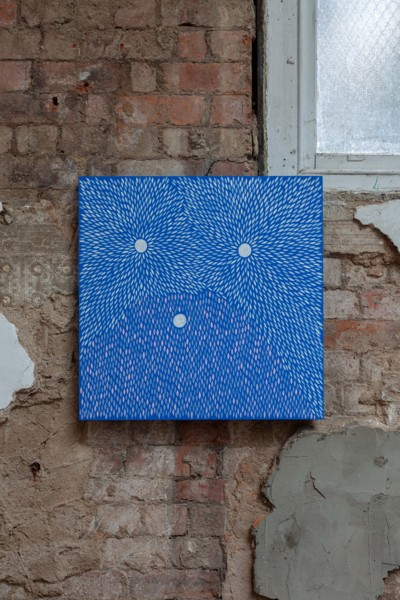 Bumpy Smooth Wet, 2019, Acrylic on wood panel, 61 x 61 cm