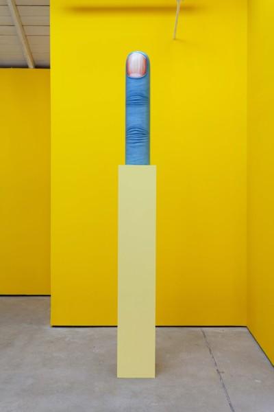 Finger, 2019, Wood, oil, acrylic, 96.5 x 20.3 x 20.3 cm