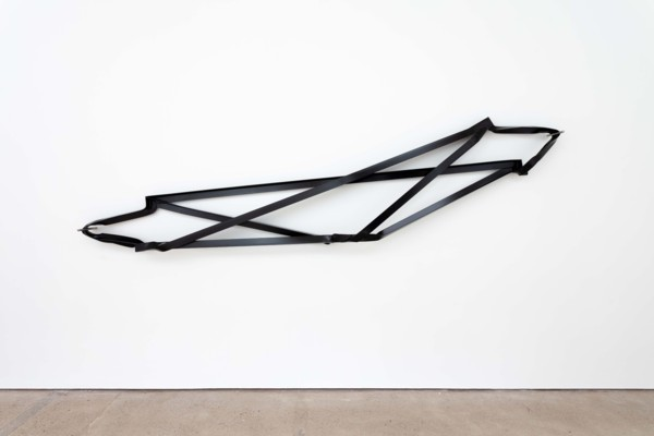 Cross Brace, 2019, Steel, paint, 168 x 370 x 28 cm