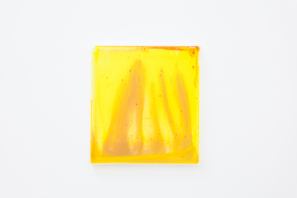 Digital Light Pool CXXVII, 2018, Acrylic paint, plastic tray, 34.3 x 31.6 x 2.4 cm