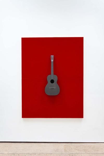 Small Axe, 2019, Inkjet print on cellulose sponge, graphite, 198.12 x 151.77 cm