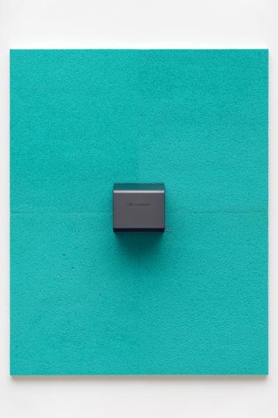 Bullnose, 2018, Inkjet print on cellulose sponge, graphite, 177.80 x 140.97 cm