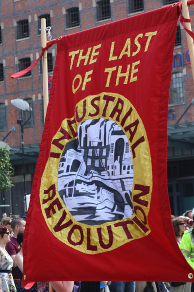 The Last of the Industrial Revolution, 2009, Banner made by Ed Hall, 175 x 128 cm, 68.9 x 50.4 in
