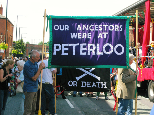 Our Ancestors were at Peterloo, 2009, Banner made by Ed Hall, 120 x 200 cm, 47.2 x 78.7 in