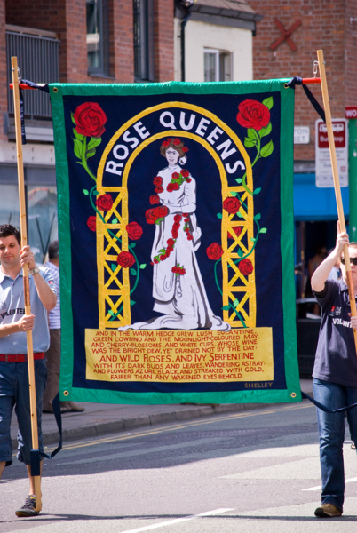 Rose Queen, 2009, Banner made by Ed Hall, 182 x 152 cm, 71.7 x 59.8 in