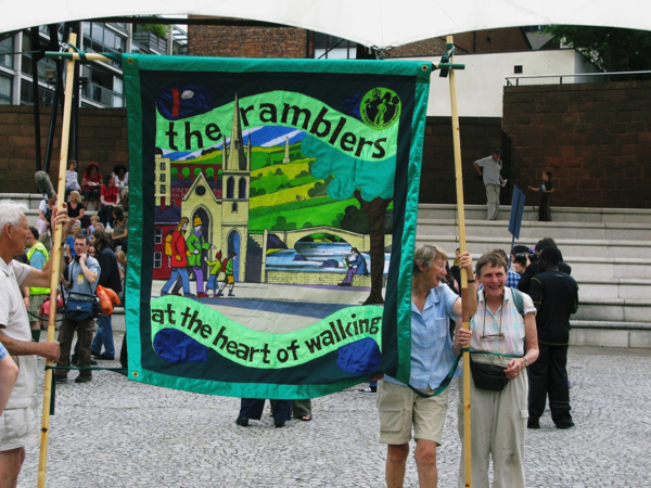 Ramble On, 2009, Banner made by Ed Hall, 182 x 152 cm, 71.7 x 59.8 in