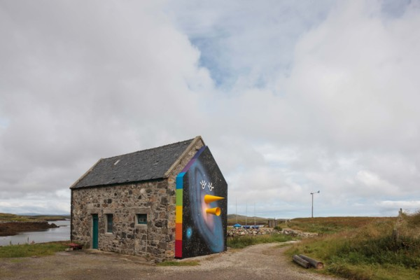 Installation view 'Are you LOCATIONALIZED', North Uist and Isle of Skye, Commissioned by ATLAS Arts (Part of GENERATION 2014)
