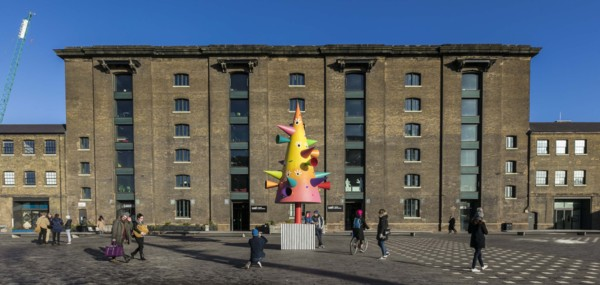 Installation view 'DOES THE ITERATIVE FIT', Granary Square, London, 2017 (Commissioned by The King's Cross Project 2017)
