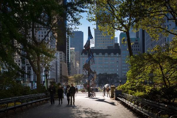 Installation view Doris C. Freedman Plaza, Central Park, New York, 2012