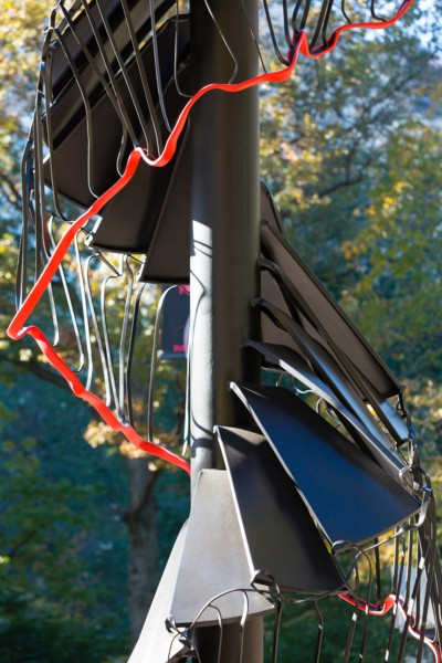 Fir Tree, 2012 (detail), Anodized and painted steel, PVC handrail, 1200 x 200 x 200 cm