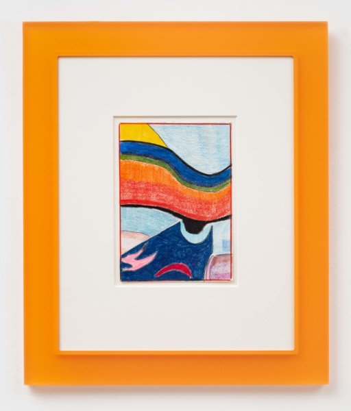 After Scriabin (Orange), 2019, Coloured pencil on paper, artist's frame, 54.5 x 45.5 x 1.9 cm