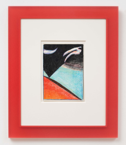 After Scriabin (Red), 2019, Coloured pencil on paper, artist's frame, 54.5 x 45.5 x 1.9 cm