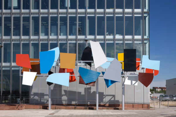 Poised Array, 2007, Steel, grp, plywood, two-pack paint, Dimensions Variable, Commission for BBC Scotland Headquarters, Glasgow, 2008