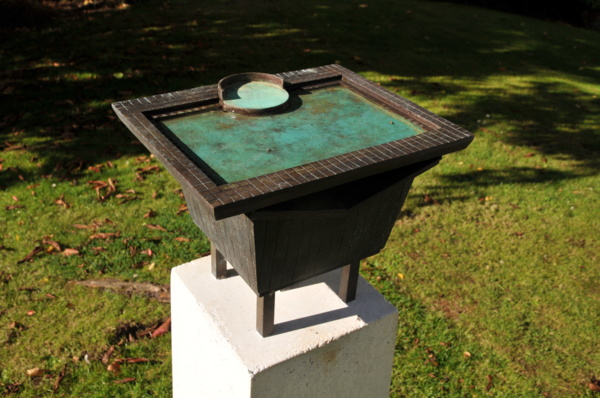 Twin Birdbaths, Bronze and Pre-cast concrete, 'Points of Contact' Public Commission in association with Collective Architecture, Dunfermline, 2014-2016