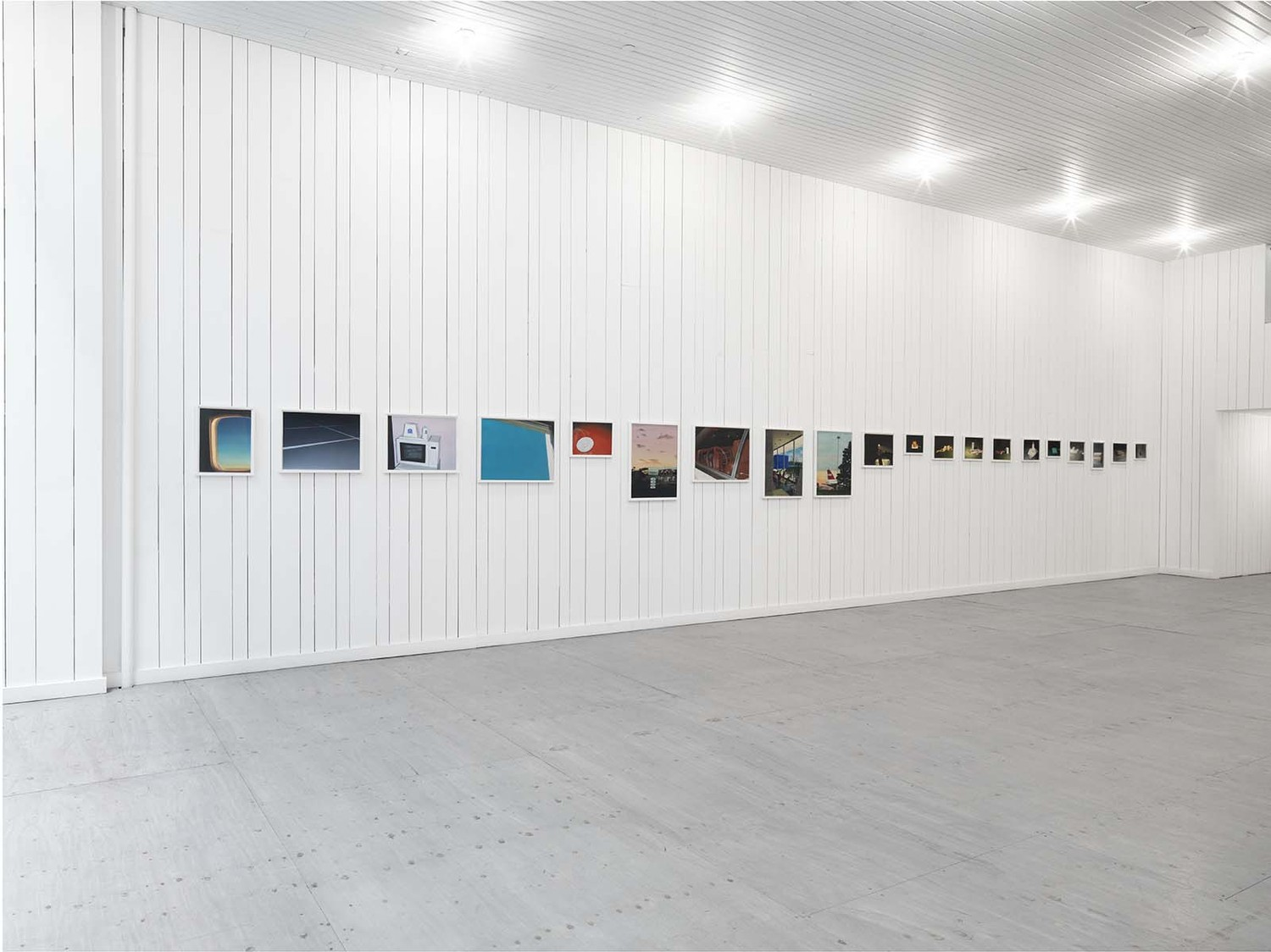 Installation view 'Gouaches 1984 - 2015', Karma, New York, 2015