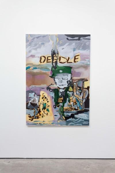 BorderDeedle, 2018-2019, Oil on canvas, 162.6 x 114.3 x 3.8 cm