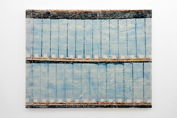 Mare Calmo, 2020, Acrylic, glue size on canvas, 114.3 x 147.3 x 3.8 cm