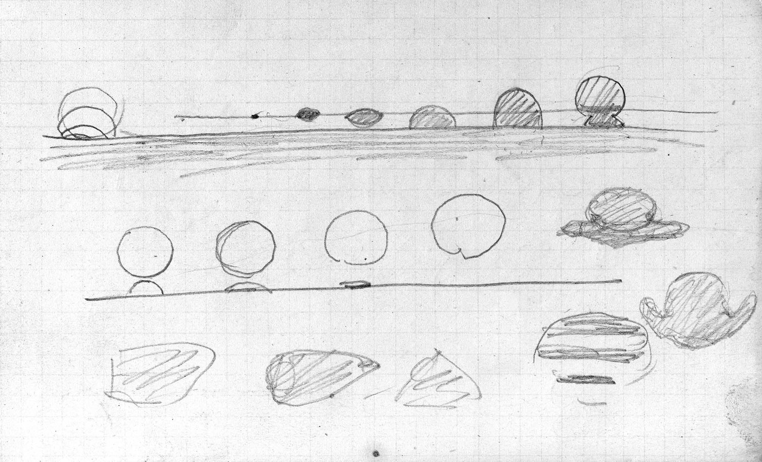 'Jules Janssen's sketch of the black drop effect, an optical phenomenon visible during a transit of Venus across the sun.'