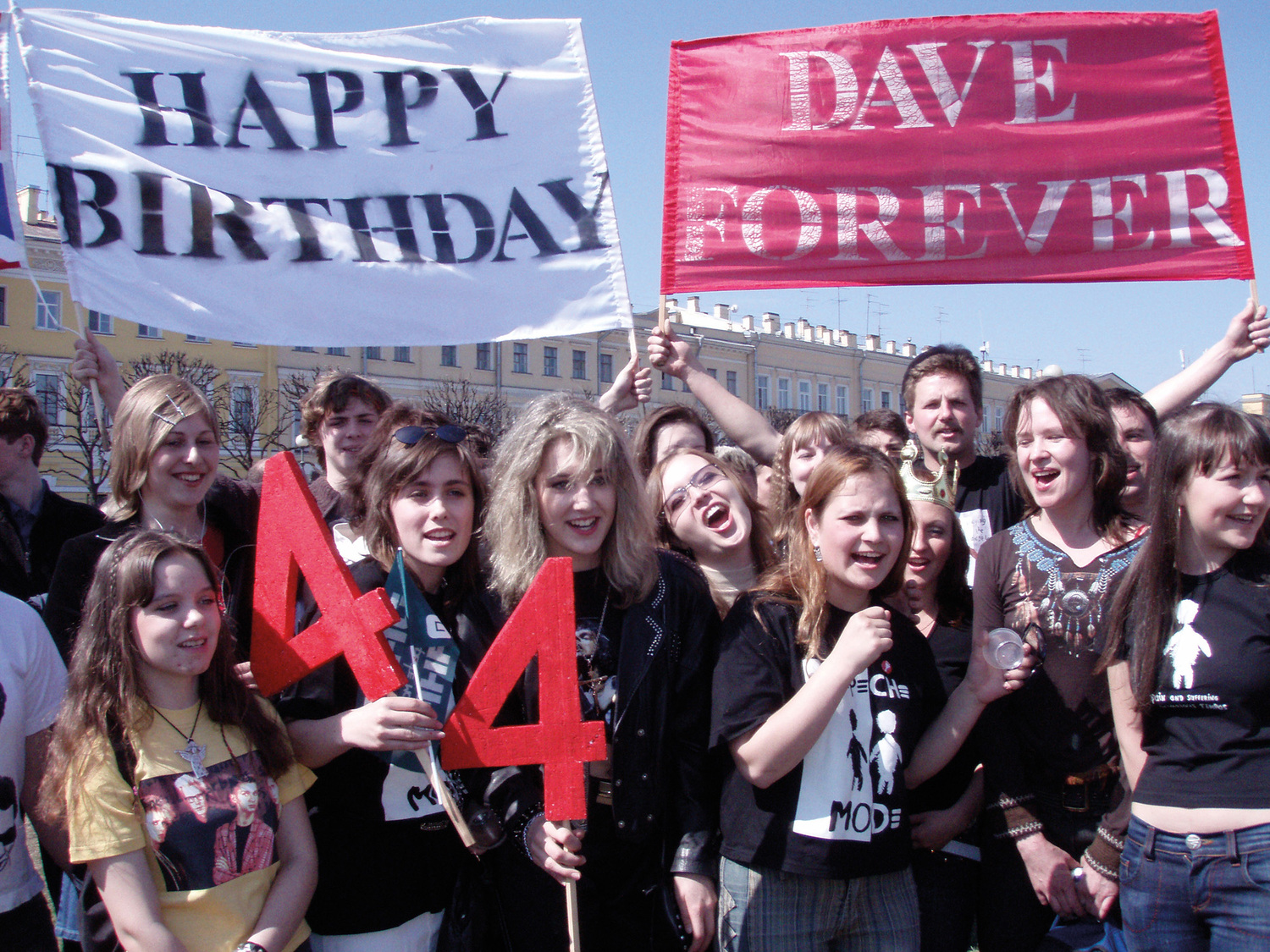 Our Hobby is Depeche Mode, 2006. Depeche Mode fans celebrate 'Dave Day', Moscow, Russia.