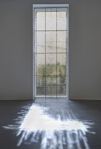 Richard Wright, No Title, 2015, Leaded glass, 460 x 174 cm 181.1 x 68.5 in