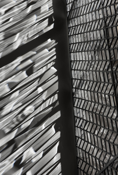 Richard Wright, No Title, 2015 (detail), Leaded glass, 460 x 174 cm 181.1 x 68.5 in