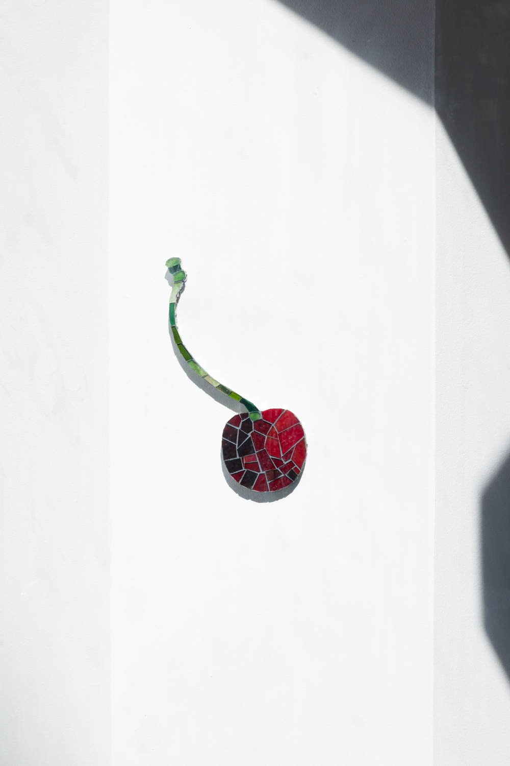 Ming Fay: Shad Crossing, Delancey, Orchard, 2004 (Cherry), 2016, Glass, grout, honeycomb aluminum, panel, 25.4 x 17.8 cm, 10 x 7 inches