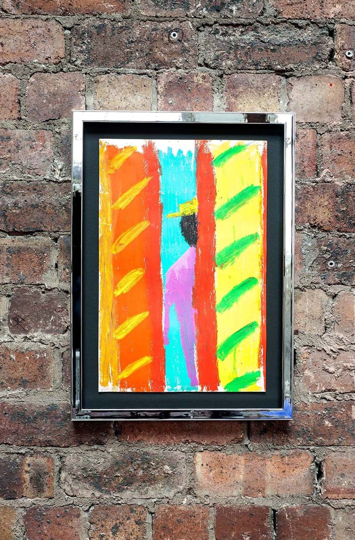 Spencer Sweeney <br> Bohemia, 2019 <br> Oil pastel on paper <br> 55.4 x 40.1 x 3.4 cm <br> 21.8 x 15.8 x 1.3 in <br>