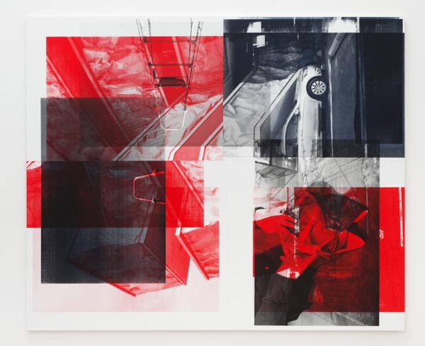 Scott Myles, Portrait, 2017, Unique screenprint on stitched canvas, 250 x 300 x 4 cm 98.4 x 118.1 x 1.6 in