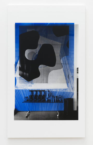 Hands, 2017, Unique screen print on canvas, 204 x 120 x 3.6 cm 80.3 x 47.2 x 1.4 in