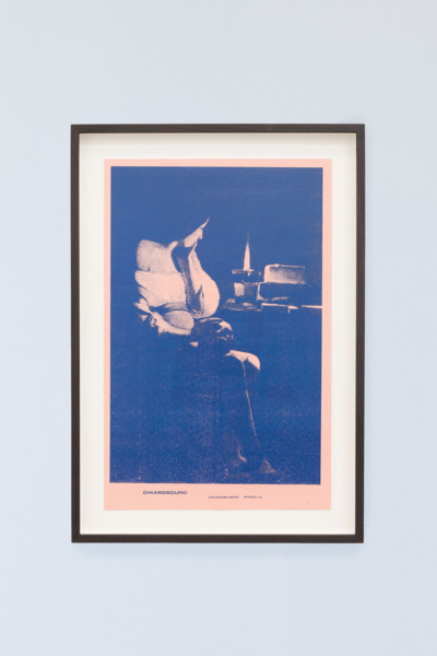 Chiaroscuro, 2020, Ink on paper/xerox print, 50.5 x 35.5 x 3 cm framed