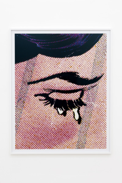 Anne Collier, Woman Crying (Comic) #25, 2020, C-Print, 161.5 x 128.7 x 4.5 cm, 63 5/8 x 50 5/8 x 1 3/4 in framed, Edition of 5