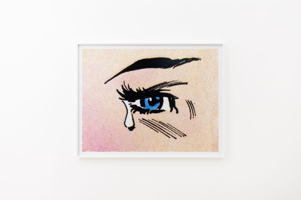 Anne Collier, Woman Crying (Comic) #28, 2020, C-Print, 128.7 x 165.5 x 4.5 cm, 50 5/8 x 65 1/8 x 1 3/4 in framed, Edition of 5