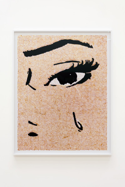Anne Collier, Woman Crying (Comic) #27, 2020, C-Print, 160.4 x 128.7 x 4.5 cm, 63 1/8 x 50 5/8 x 1 3/4 in framed, Edition of 5