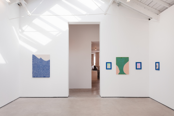 Installation view 'Holding My Breath Moving Closer Closer', The Modern Institute, Osborne Street, Glasgow, 2020