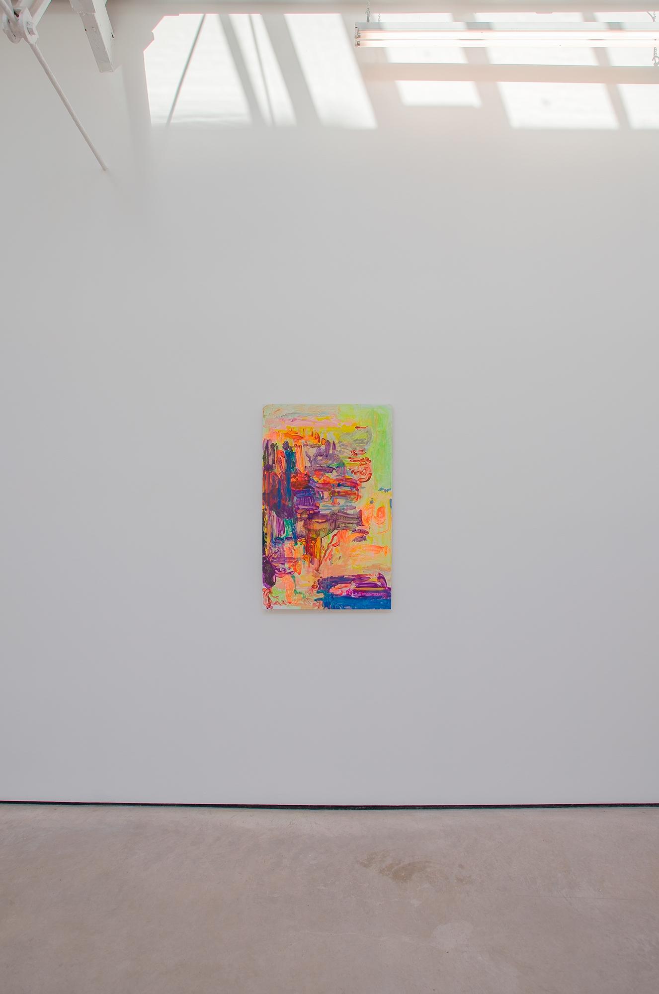 Yellow Politic, 2020, Acrylic on gesso board, 100 x 63 x 3 cm, 39 3/8 x 24 3/4 x 1 1/8 in