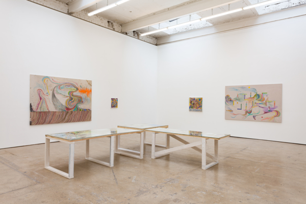 Installation view, 'Subject Matter, Unblivion, Peace Train Of Thought How I Figured Out How To Have A Show In 2021', The Modern Institute, Airds Lane, Glasgow, 2021