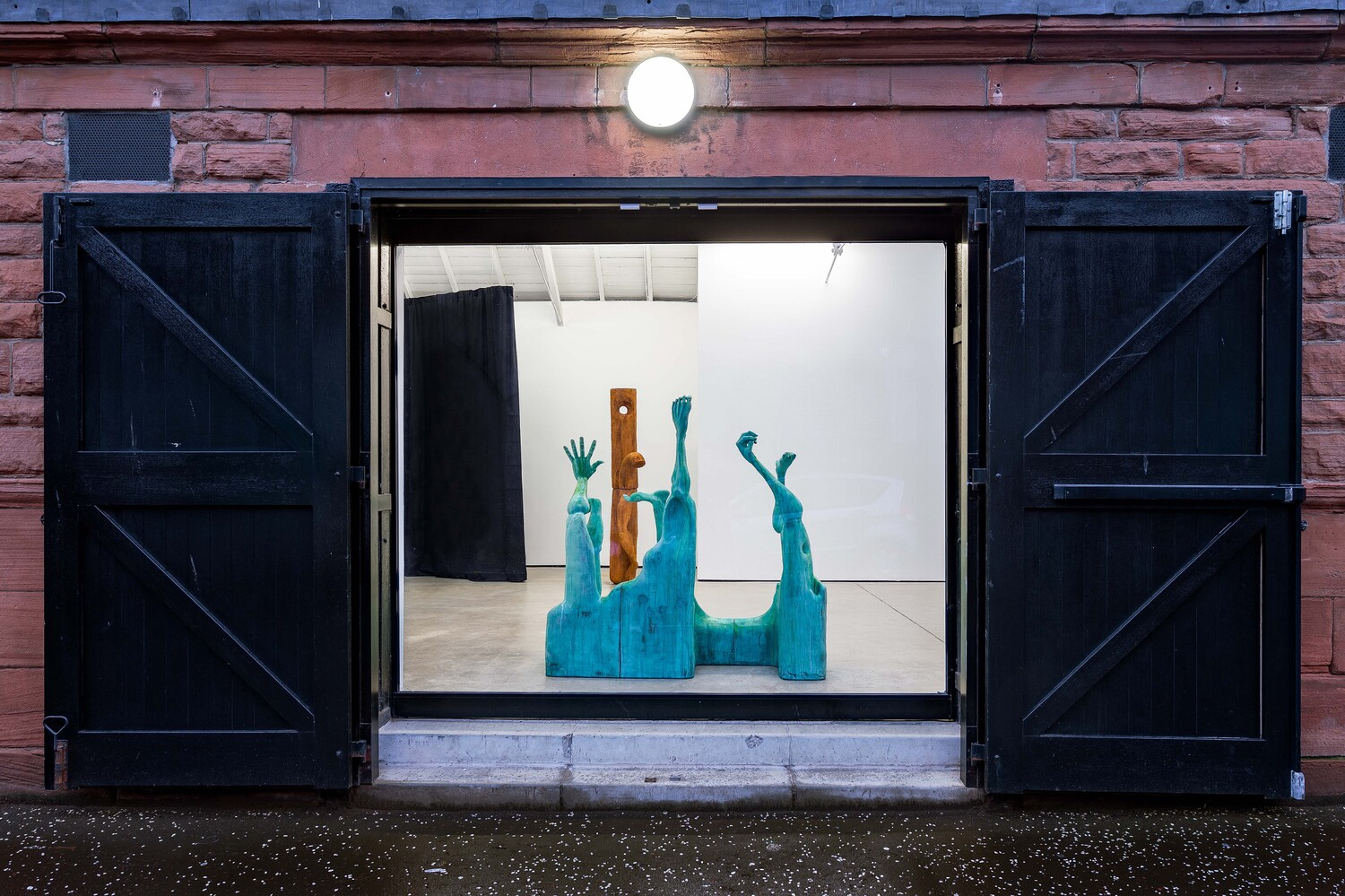 Installation view 'Carve a hole in the rain for yer', The Modern Institute, Osborne Street, Glasgow, 2021